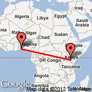 Cotonou (Cadjehoun, COO) - Nairobi (Jomo Kenyatta International, NBO)