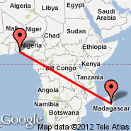 Cotonou (Cadjehoun, COO) - Antananarivo (Ivato International Airport, TNR)