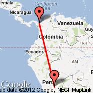 Capurgana (CPB) - Cuzco (Velazco Astete, CUZ)