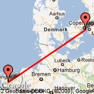 Kopenhagen (Kastrup, CPH) - Heerenveen Bus (Bus Station, QYZ)