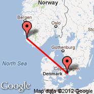 Kopenhagen (Kastrup, CPH) - Stavanger (Sola, SVG)