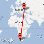 Cape Town (Cape Town International, CPT) - Odessa (Odessa International, ODS)