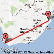 Cape Town (Cape Town International, CPT) - Ulundi (Prince Mangosuthu Buthelezi, ULD)