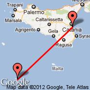 Catania (Fontanarossa, CTA) - Lampedusa (LMP)