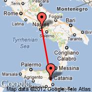 Catania (Fontanarossa, CTA) - Napulj (Capodichino, NAP)
