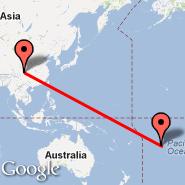 Chengdu (Shuangliu, CTU) - Aitutaki (AIT)