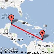 Cancun (Cancún International, CUN) - Bonaire (Flamingo International, BON)