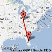 Cincinnati (Cincinnati/northern Kentucky, CVG) - Orlando (Orlando Executive, ORL)