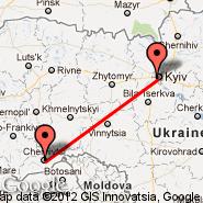 Chernivtsi (Chernovtsy, CWC) - Kiev (Zhulhany, IEV)