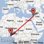 Damask (International, DAM) - Lagos (Murtala Muhammed, LOS)