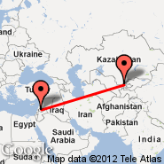 Damascus (International, DAM) - Tashkent (Yuzhny, TAS)