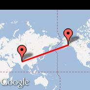 Delhi (Indira Gandhi Intl, DEL) - Anchorage (Ted Stevens Anchorage International Airport, ANC)