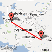 Delhi (Indira Gandhi Intl, DEL) - Ashgabat (ASB)
