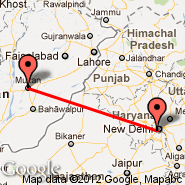 Delhi (Indira Gandhi Intl, DEL) - Multan (Multan International, MUX)