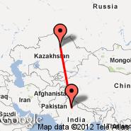 Delhi (Indira Gandhi Intl, DEL) - Astana (TSE)
