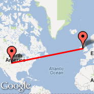 Denver (Denver International, DEN) - Dublin (Dublin International Airport, DUB)