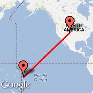 Denver (Denver International, DEN) - Niue (Hanan, IUE)