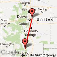 Denver (Denver International, DEN) - Taos (Taos Regional Airport, TSM)