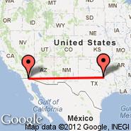 Dallas (Dallas/Fort Worth International, DFW) - Calexico (International, CXL)