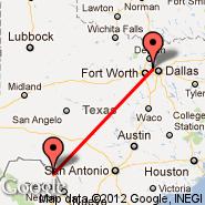 Dallas (Dallas/Fort Worth International, DFW) - Del Rio (International, DRT)