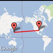 Dallas (Dallas/Fort Worth International, DFW) - Iwo Jima (Iwo Jima Airbase, IWO)