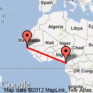 Dakar (Dakar-Yoff-Léopold Sédar Senghor International, DKR) - Douala (DLA)