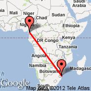 Douala (DLA) - Maputo (Maputo International, MPM)