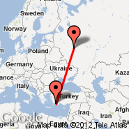 Dalaman (DLM) - Moscow (Metropolitan Area, MOW)