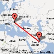 Dammam (King Fahd International Airport, DMM) - Beograd (Nikola Tesla, BEG)