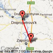 Dnepropetrovsk (DNK) - Zaporizhia (Zaporozhye, OZH)