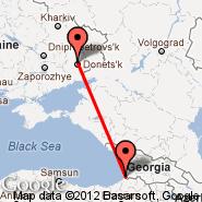 Donjeck (Donetsk International Airport, DOK) - Batumi (Batum, BUS)
