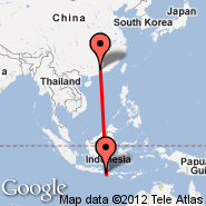 Denpasar/Bali (Ngurah Rai International, DPS) - Guangzhou/Kanton (New Baiyun, CAN)