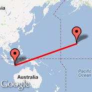 Denpasar/Bali (Ngurah Rai International, DPS) - Honolulu/Oahu (Honolulu International, HNL)