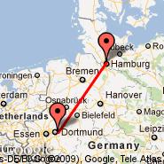 Dortmund (Wickede, DTM) - Hamburg (Hamburg Airport, HAM)