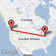 Detroit (Metropolitan Area, DTT) - Seattle (Seattle-Tacoma International, SEA)