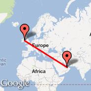 Dublin (Dublin International Airport, DUB) - Abu Dhabi (Abu Dhabi International, AUH)