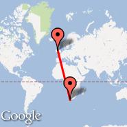 Dublin (Dublin International Airport, DUB) - Cape Town (Cape Town International, CPT)