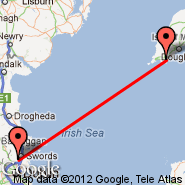Dublin (Dublin International Airport, DUB) - Isle of Man (Ronaldsway, IOM)
