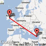 Dublin (Dublin International Airport, DUB) - Pafos (International, PFO)