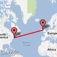Dublin (Dublin International Airport, DUB) - Providence (T. F. Green Airport, PVD)