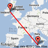 Dublin (Dublin International Airport, DUB) - Trapani (Birgi, TPS)