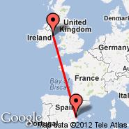 Dublin (Dublin International Airport, DUB) - Valencia (Manises, VLC)
