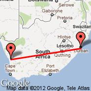 Durban (Durban International, DUR) - Vredendal (VRE)