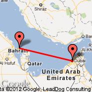 Dubai (Dubai International Airport, DXB) - Bahrain (Bahrain International, BAH)