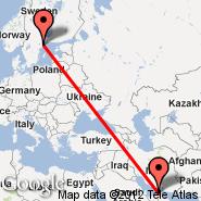 Dubai (Dubai International Airport, DXB) - Stockholm (Metropolitan Area, STO)