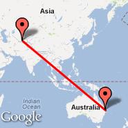 Dushanbe (DYU) - Brisbane (Brisbane International, BNE)