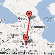 Erbil (Erbil International, EBL) - Tbilisi (Lochini, TBS)
