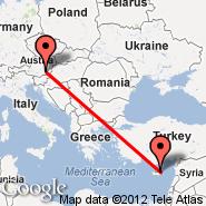 Ercan (Ercan International Airport, ECN) - Graz (Thalerhof, GRZ)