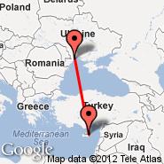 Ercan (Ercan International Airport, ECN) - Odessa (Odessa International, ODS)