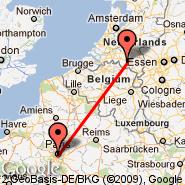 Eindhoven (EIN) - Pariz (Metropolitan Area, PAR)